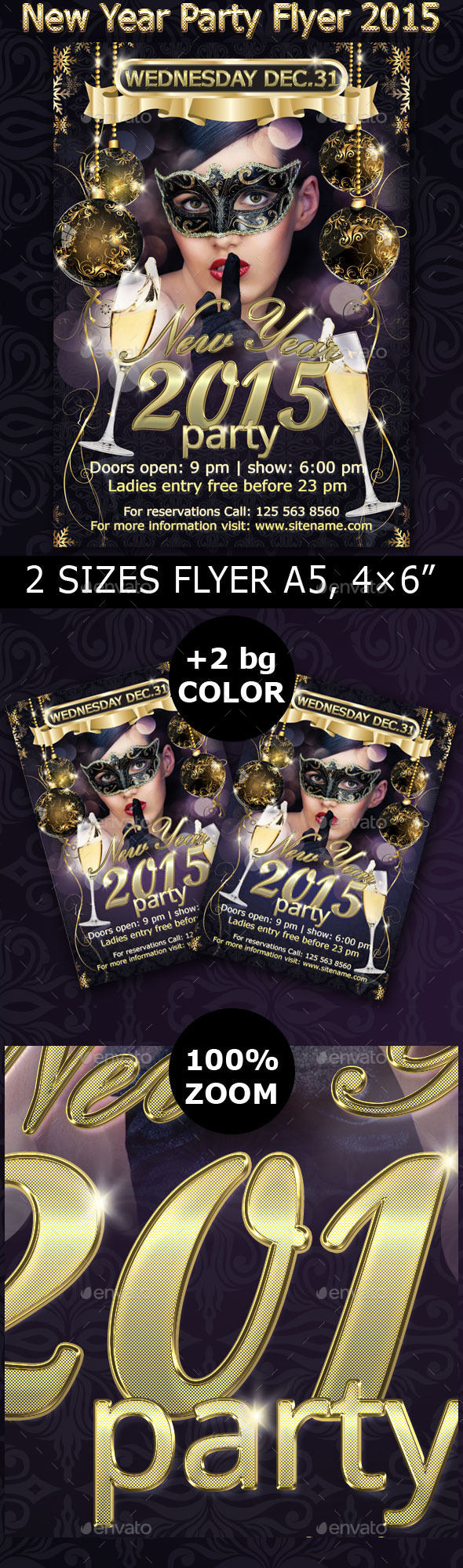 New Year Party Flyer 2015 - Clubs & Parties Events