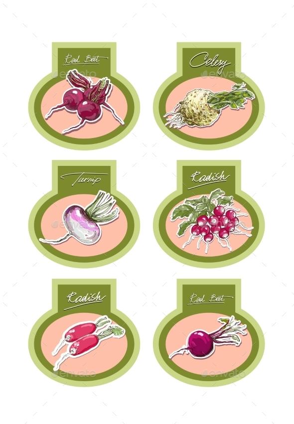 Set of Vegetables - Flowers & Plants Nature