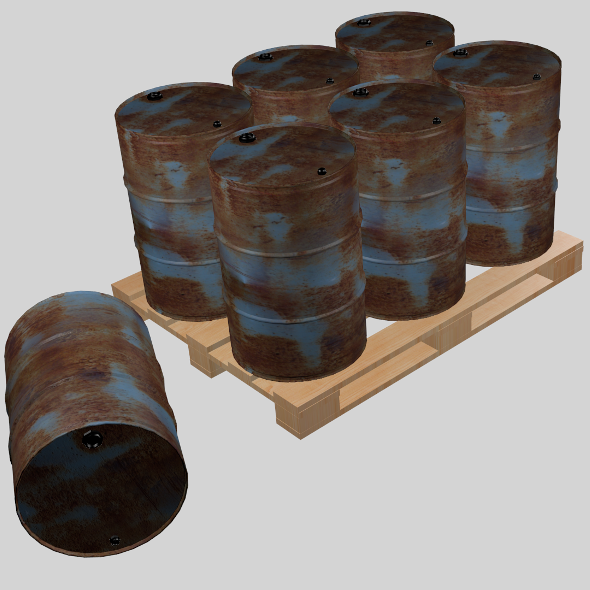 Steel barrel - 3DOcean Item for Sale