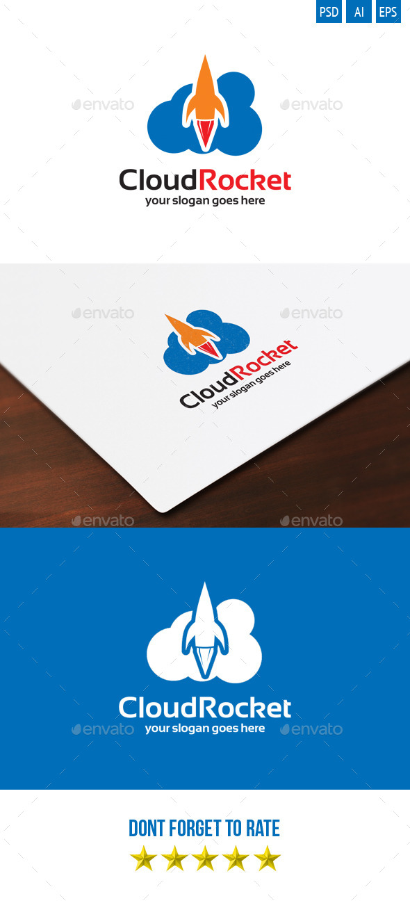 Cloud Rocket logo - Objects Logo Templates