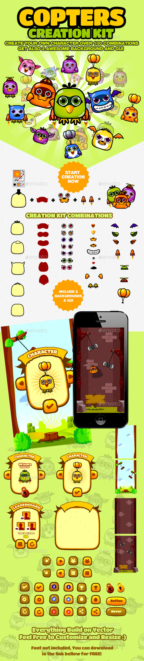 Copters Creation and Game Kit - Game Kits Game Assets