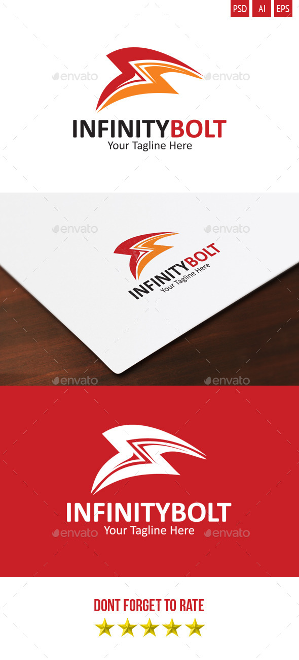 Infinity Bolt Logo - Symbols Logo Templates