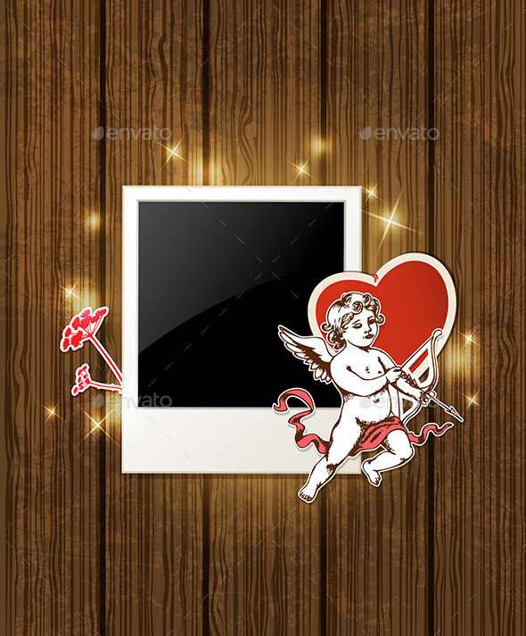 Photo and Cupid for Valentine's Day - Valentines Seasons/Holidays