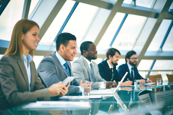 Listeners at session - Stock Photo - Images