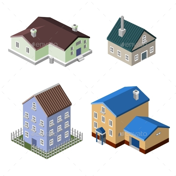 Residential House Buildings - Buildings Objects