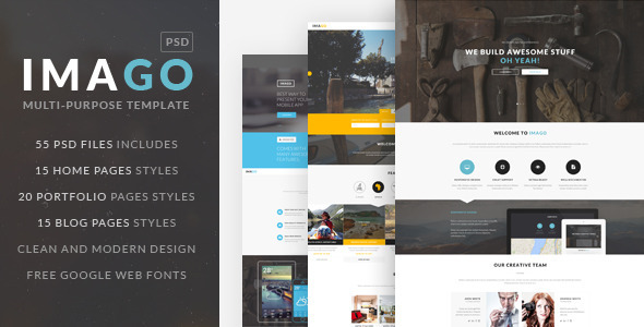 IMAGO | Multipurpose PSD Template - Creative PSD Templates