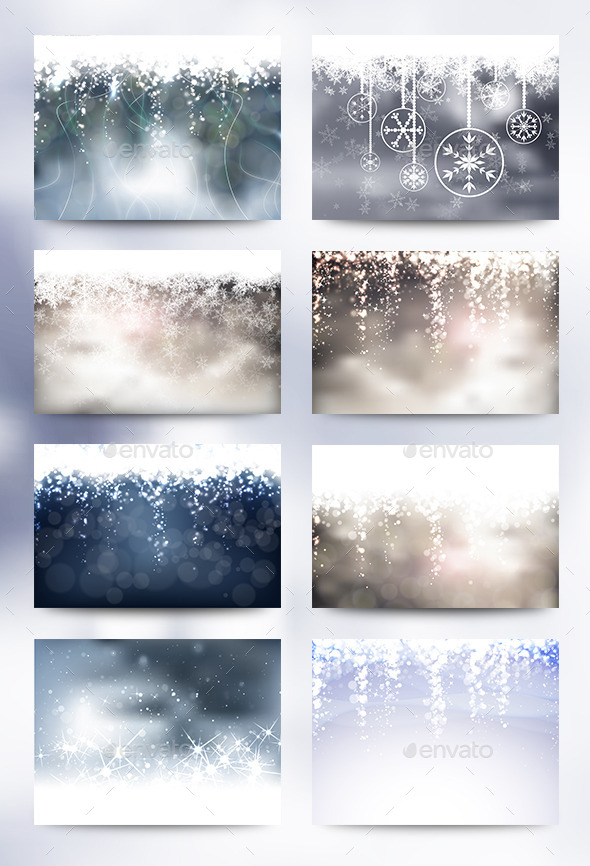 8 Christmas Backgrounds - Christmas Seasons/Holidays