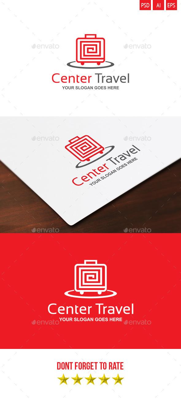 Center Travel Logo - Objects Logo Templates