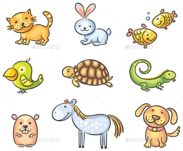 Cartoon Pet Animals - Animals Characters