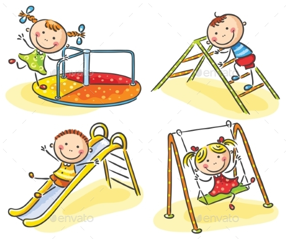 Kids on Playground - People Characters