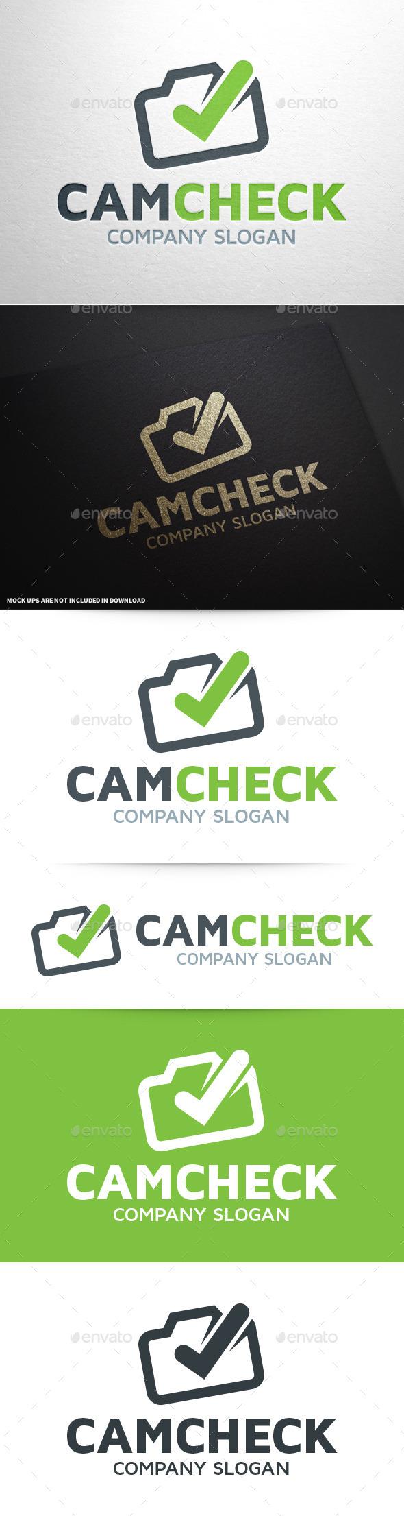 Camera Check Logo Template - Symbols Logo Templates