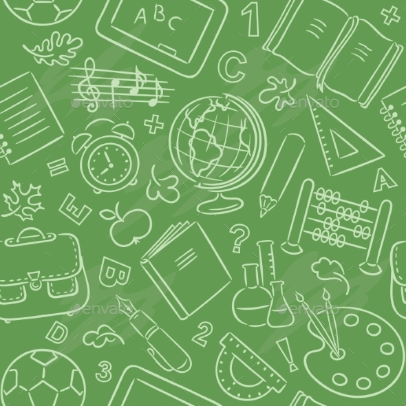 School Objects Pattern - Patterns Decorative