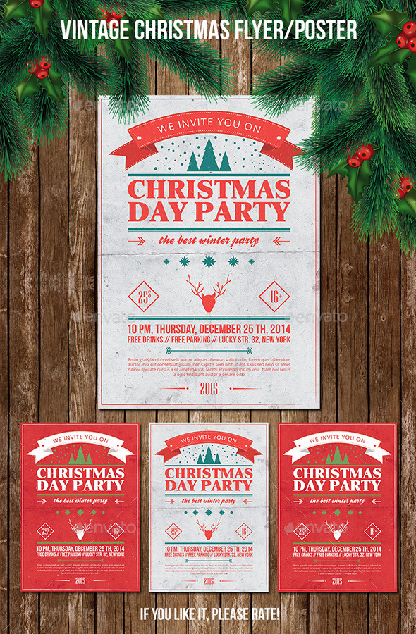 Christmas Party Poster/Flyer Vol.1 - Holidays Events