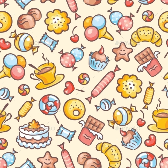 Sweets Pattern - Patterns Decorative