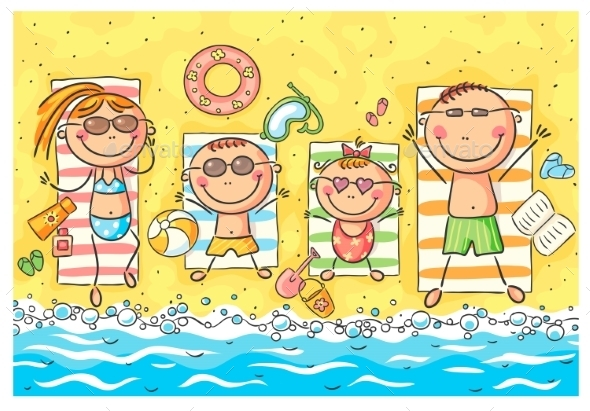 Family at Seaside - Seasons/Holidays Conceptual