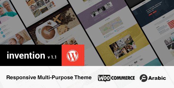 Invention Responsive Multi-Purpose WordPress Theme