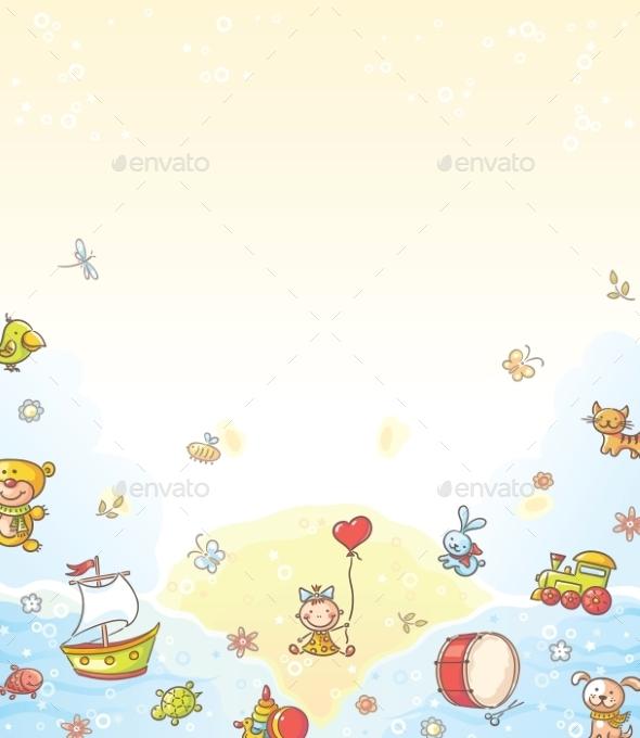 Toys Background - Backgrounds Decorative