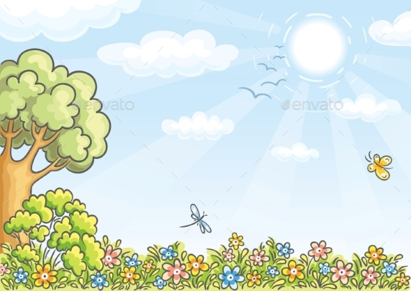 Meadow Background - Backgrounds Decorative