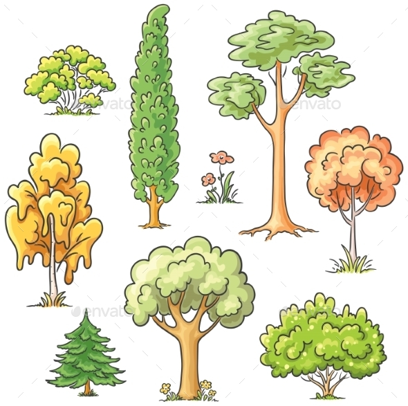 Set of Trees - Objects Vectors