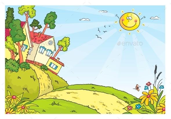 Countryside Landscape - Backgrounds Decorative