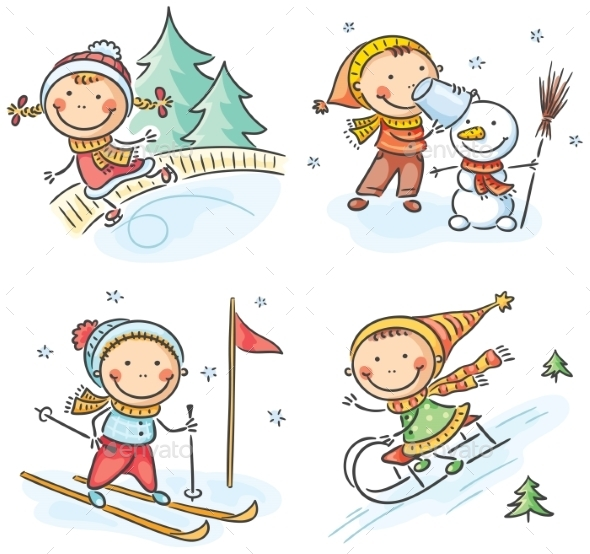 Outdoor Winter Activities - Seasons/Holidays Conceptual