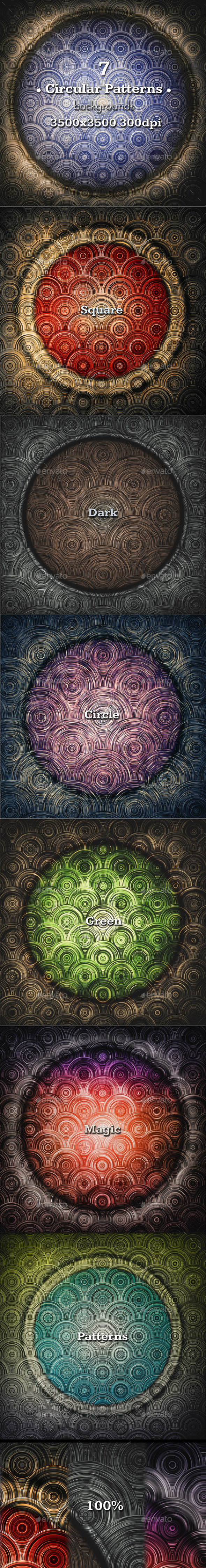 Square Circular Pattern - Patterns Backgrounds