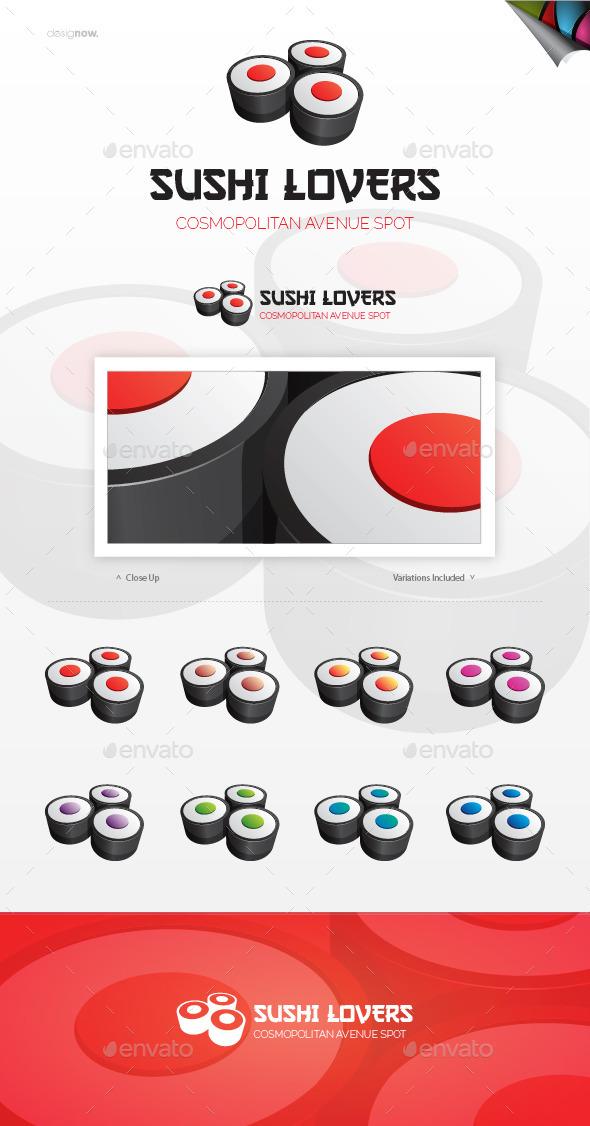 Sushi Lovers Logo - Food Logo Templates