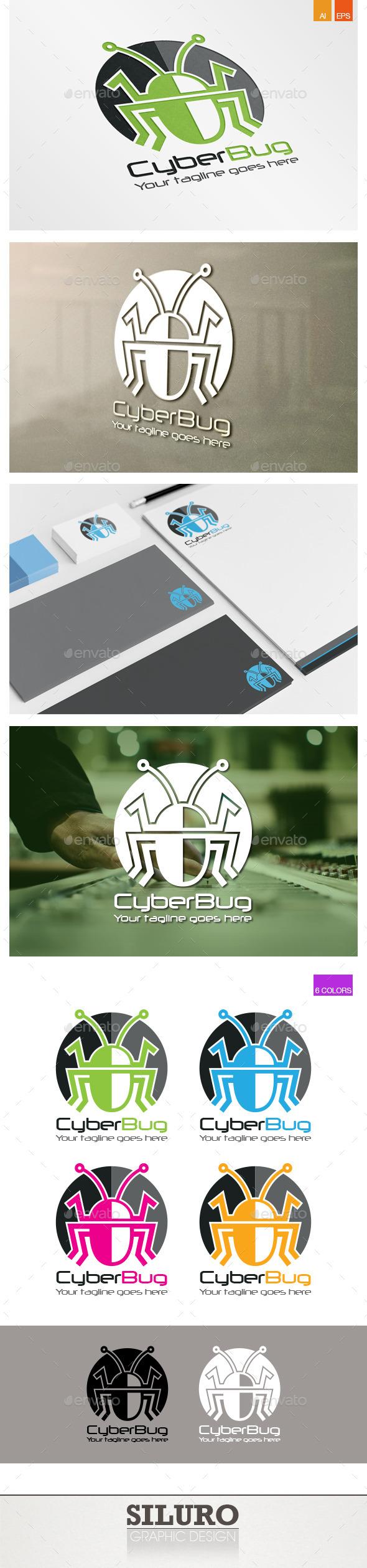 Cyber Bug Logo - Animals Logo Templates