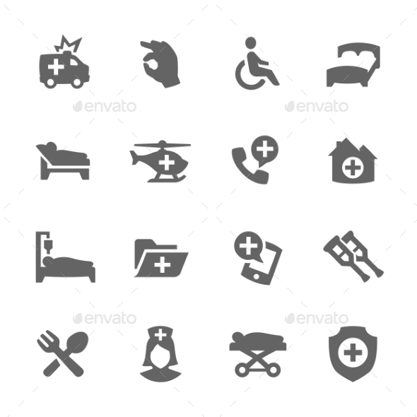 Medical Transportation Icons - Miscellaneous Icons