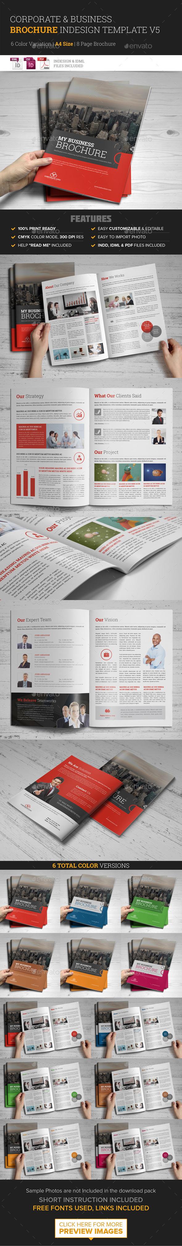 Corporate Multipurpose Brochure Template v5 - Corporate Brochures