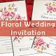 Floral Wedding Invitation - GraphicRiver Item for Sale