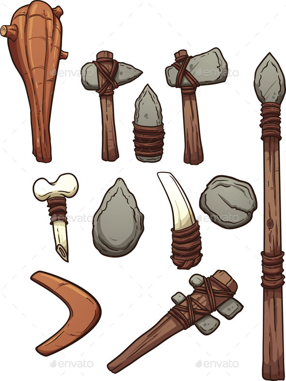 Prehistoric Weapons - Man-made Objects Objects