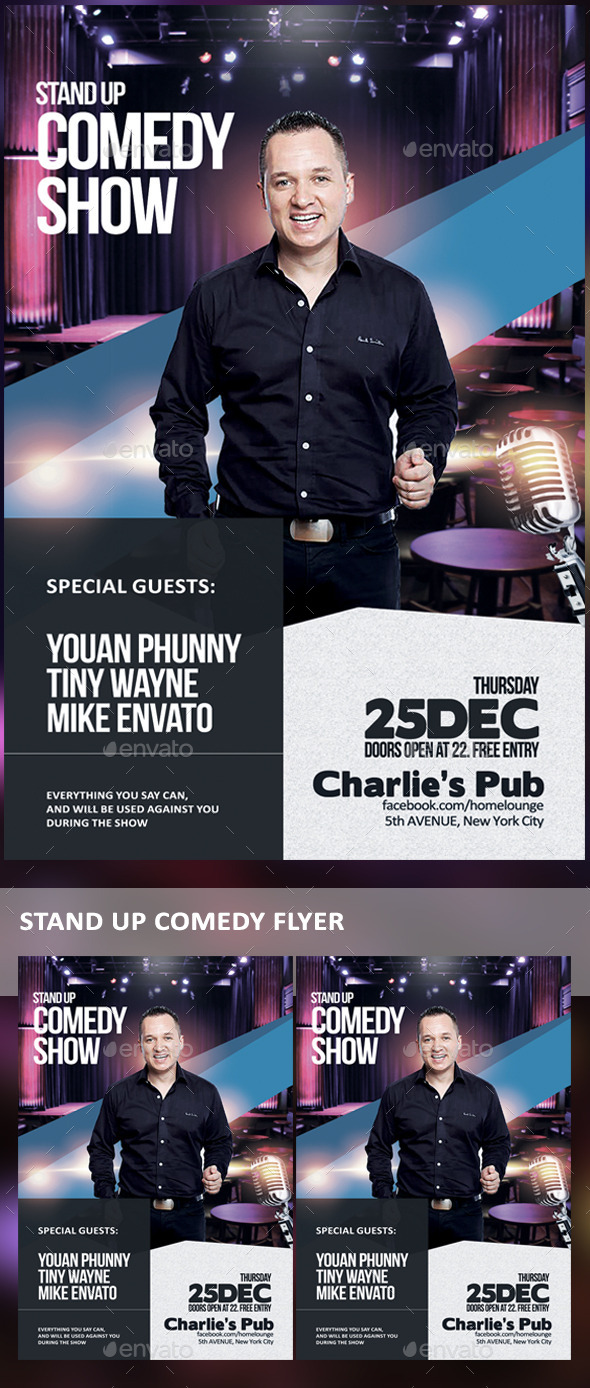 Stand Up Comedy - Flyer - Events Flyers