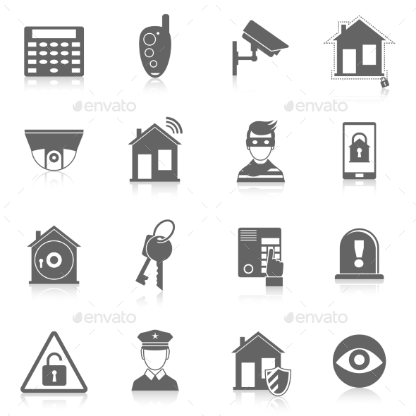 Home security icons  - Technology Icons