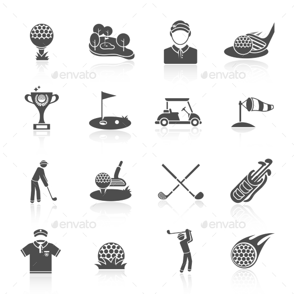 Golf Icons - Sports/Activity Conceptual