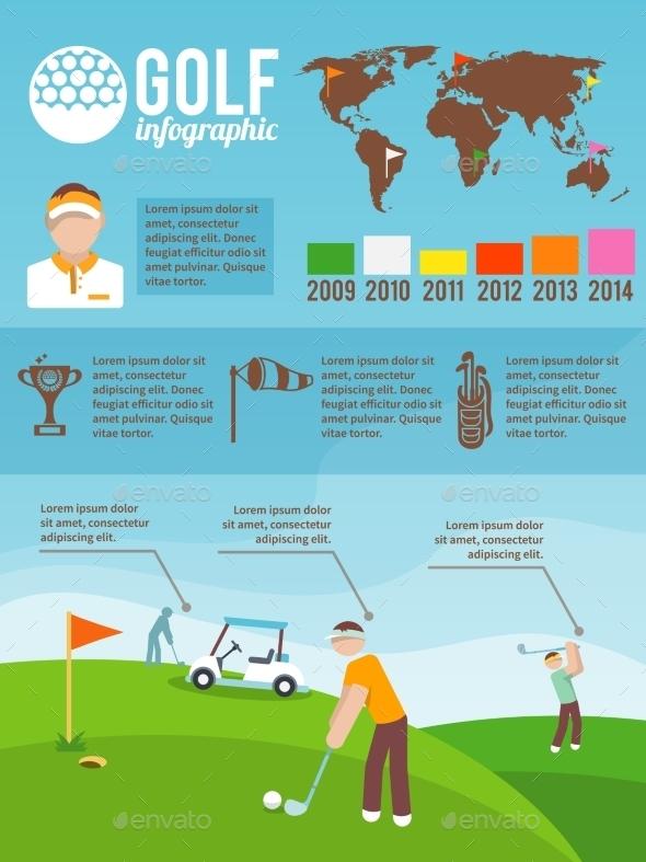 Golf Infographics Set - Sports/Activity Conceptual
