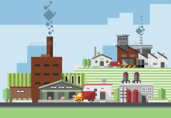 Industrial Buildings - Buildings Objects