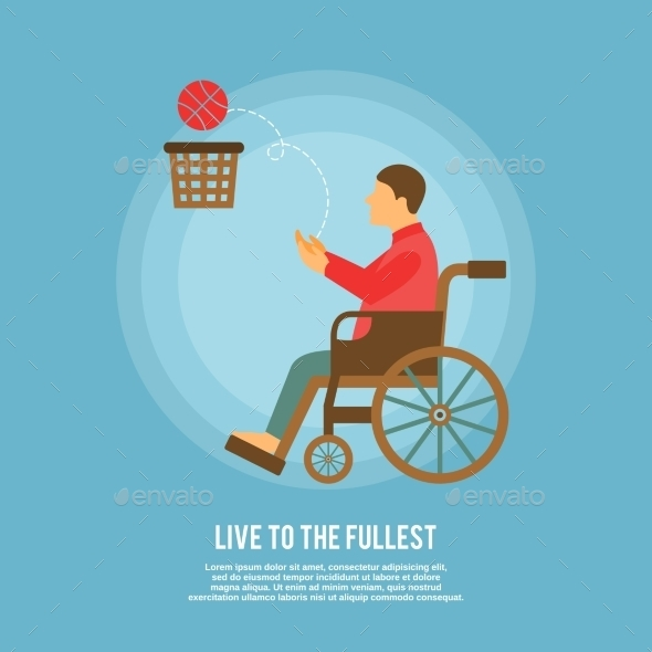 Wheelchair Basketball Poster - Health/Medicine Conceptual