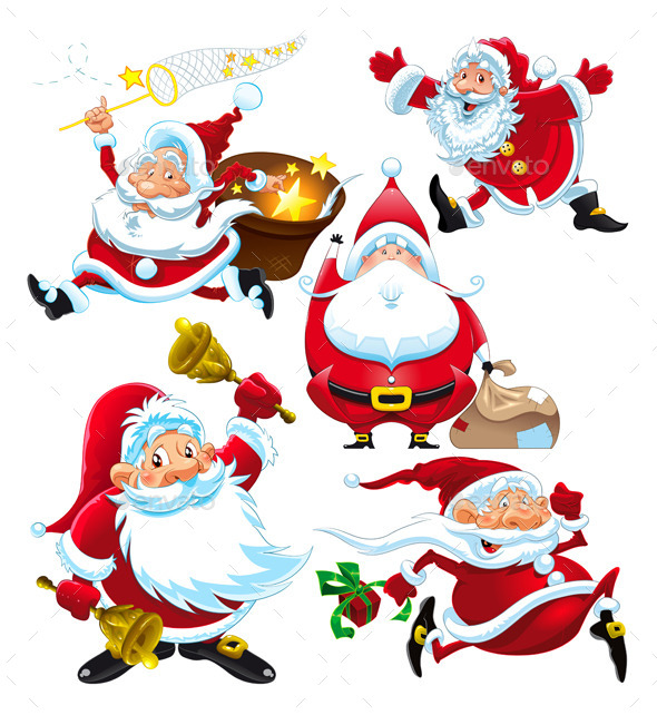 Set of Santa Claus - Christmas Seasons/Holidays