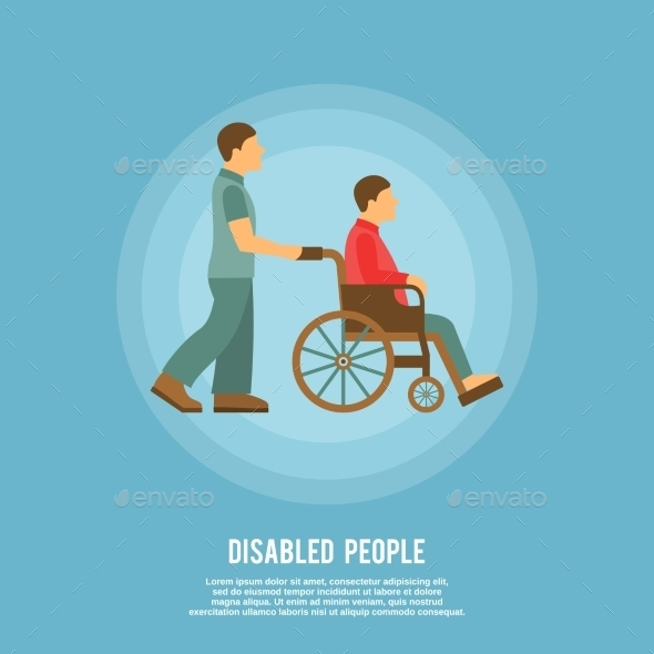 Disabled Person Poster - Health/Medicine Conceptual