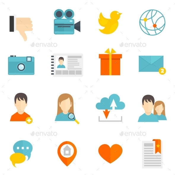 Social Icons Set - Communications Technology