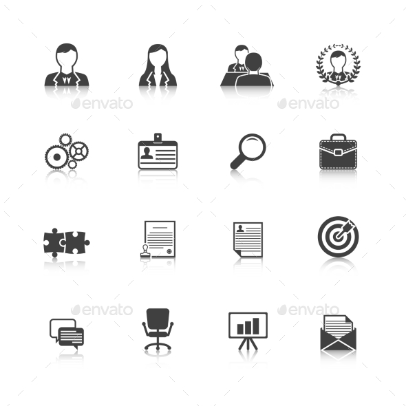 Human Resources Icons - Web Elements Vectors