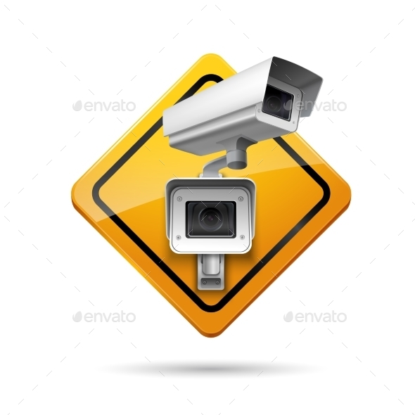 Video Surveillance Sign - Technology Conceptual