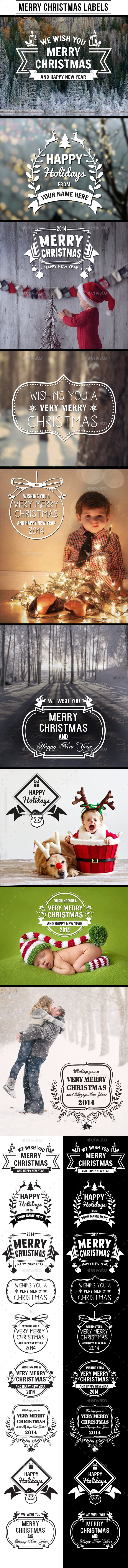 Merry Christmas Labels - Badges & Stickers Web Elements