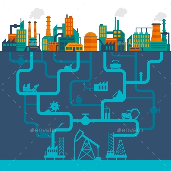 Flat Industry Background - Industries Business
