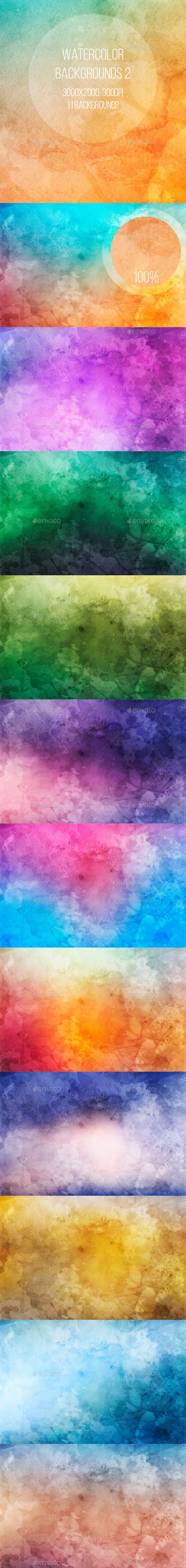 Watercolor Backgrounds 2 - Abstract Backgrounds