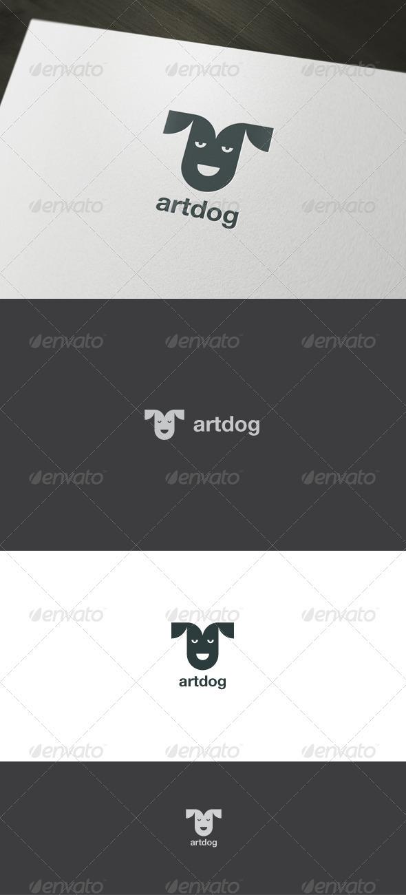 Minimal Dog Logo - Animals Logo Templates