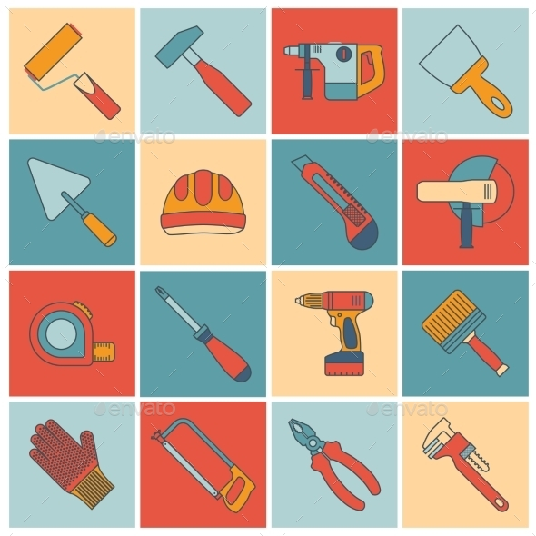 Repair Construction Tools  - Decorative Vectors