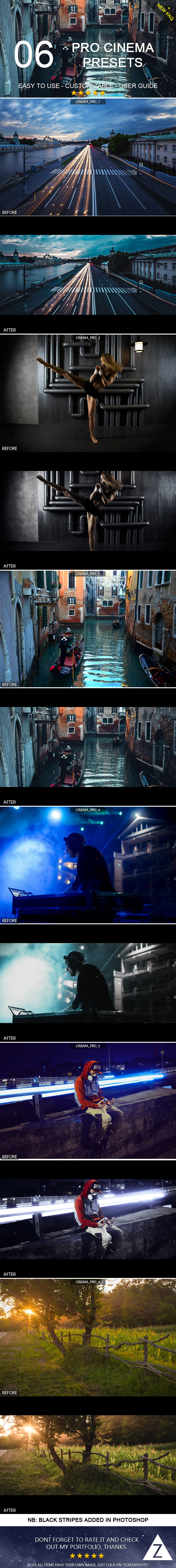 6 Pro Cinema Presets - Cinematic Lightroom Presets