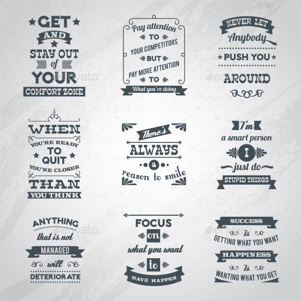 Success Quotes Set - Concepts Business